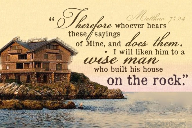 Image result for house built upon the rock
